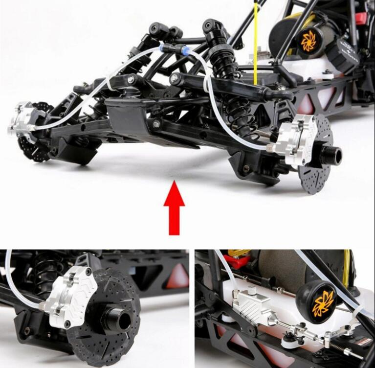 Front Wheel Hydraulic Brake System For 1/5 Scale Hpi KM Baja 5b 5SC RC Car Part 1 5 rc car racing parts front hydraulic brake system for 1 5 scale hpi baja 5b king motor truck free shipping