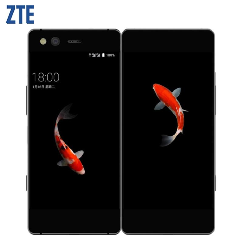 Оригинальный zte AXON M складной Экран двойной Экран мобильный телефон 52 4 GB Оперативная память 64 Гб MSM8996 Pro Quad core Android 71 20MP смартфон купить на AliExpress