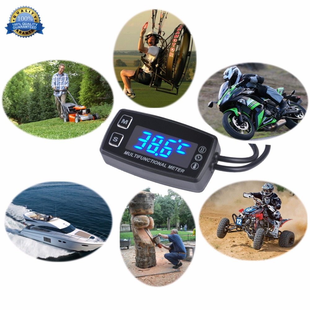 Image 3 - LED Tach/Hour Meter Thermometer TemperatureMeter for gasoline 