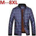 5XL 6XL 7XL 8XL 9xl 2016 Novos Homens Jaqueta Moda Casual Solta Homens Sportswear Jaqueta Jaqueta Mens jaquetas e casacos