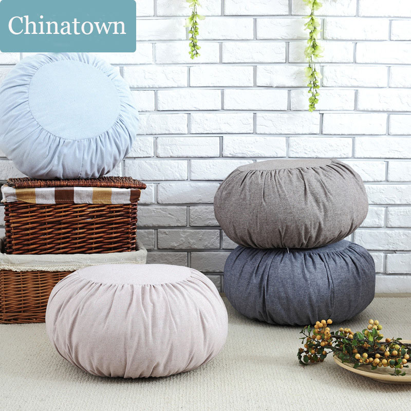 Japan&Korean cotton&linen Pumpkin Cushion pillow futon removable&Washable sofa cushions tatami meditation Cushion Yoga cushion