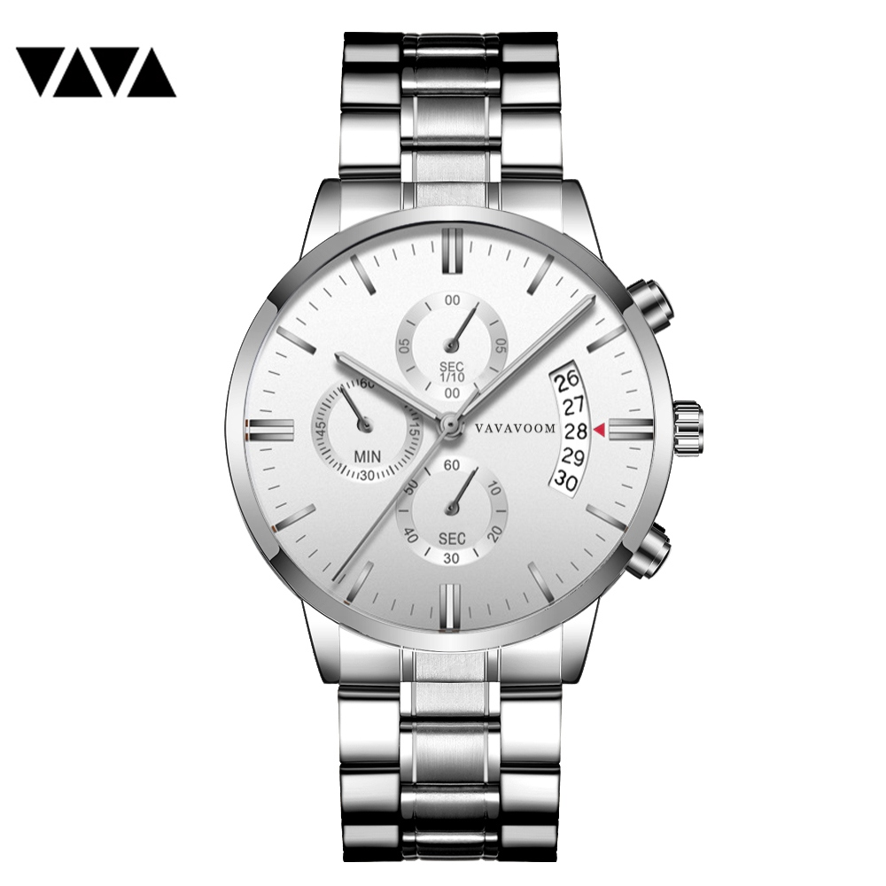 VA VA VOOM 2019 Fashion Watch Men Fashion Quartz Clock Top Brand Luxury Business Waterproof Mens Watches Relogio MasculinoVA VA VOOM 2019 Fashion Watch Men Fashion Quartz Clock Top Brand Luxury Business Waterproof Mens Watches Relogio Masculino