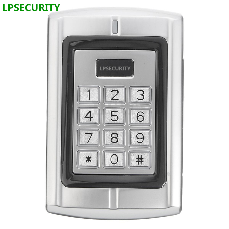 LPSECURITY Keypad Access Control Wiegand 26 Door Card Reader 125Khz EM PIN for door lock gate opener lpsecurity 10 tags or 10 cards 125khz gate door lock rfid keypad proximity reader access controller wg26 input for slave reader