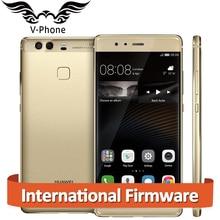 Оригинальный Huawei P9 EVA-AL10 4 г LTE мобильный телефон 4 ГБ Оперативная память 64 ГБ Встроенная память 5.2 дюйма Kirin955 Восьмиядерный двойной назад 12MP Камера отпечатков пальцев