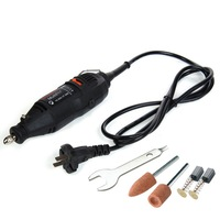 Urijk 220V Mini Electric Grinder Dremel Drill Engraver Regulating Speed Sanding Grinding Machine Sharpening Hand Tool