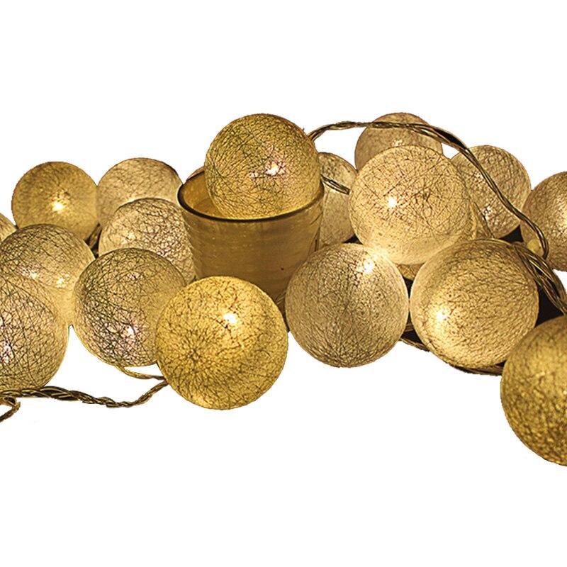 açıq pambıq 6sm toplu simli işıqlar 5m 20leds peri christmas - Xarici işıqlandırma - Fotoqrafiya 2