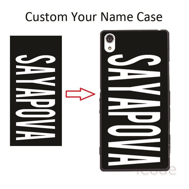Custom Name Photo Case Cover for Sony Xperia Z Z1 Z2 Z3 Z4