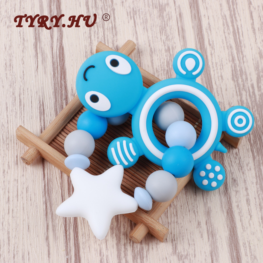 TYRY.HU Baby Teether Silicone Bracelet Bijtring Food Grade Silicone Nurse Gift Childen's Goods Bpa Free Silicone Teething Toy