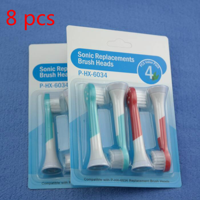 8 pcs Black Best Electric Sonic Replacement Tooth Brush For Philips Sonicare Diamondclean Toothbrush Heads Soft Bristles HX6064 image