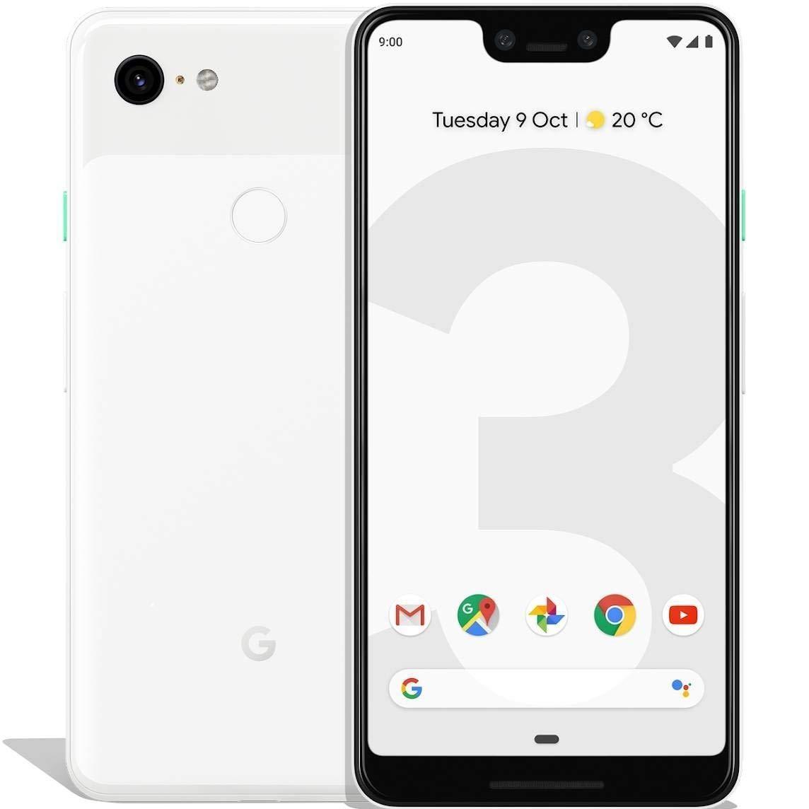 Google Pixel 3 XL, Band 4G/LTE/WiFi, внутренний 6 4 GB de Memoria, 4 GB Ram, экран высотой 16 cm (6,3 ), 3430 mAh, Pan