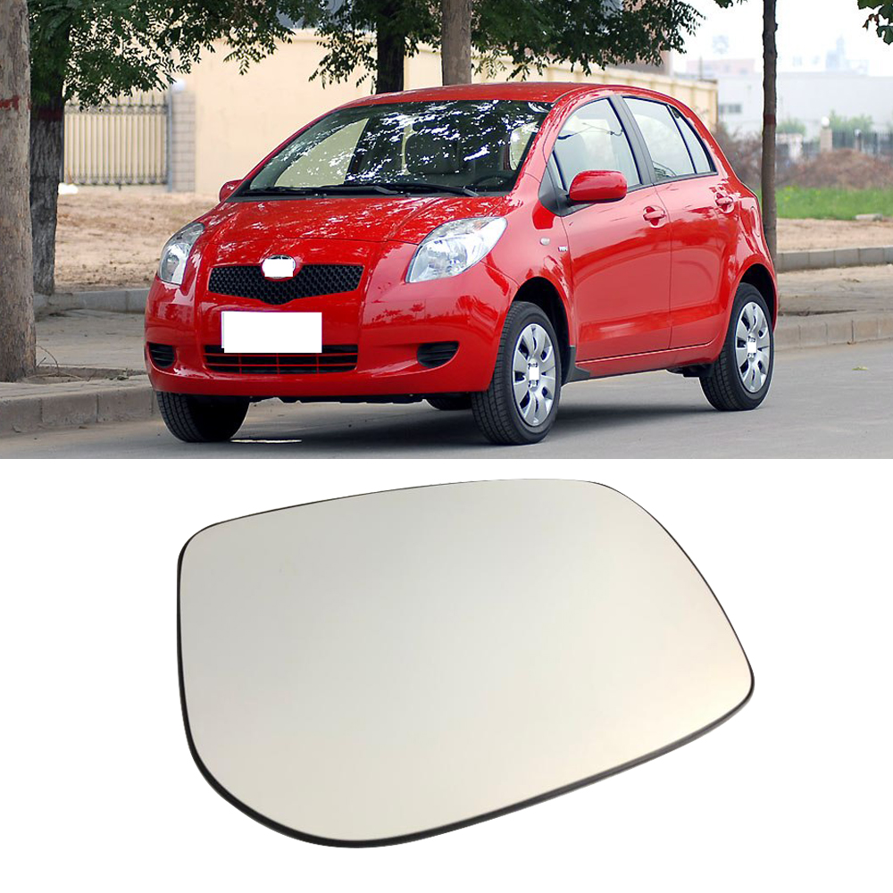 Wing Mirror Glass For TOYOTA Yaris With Base-Non Heated LH Side 2006 to 2011