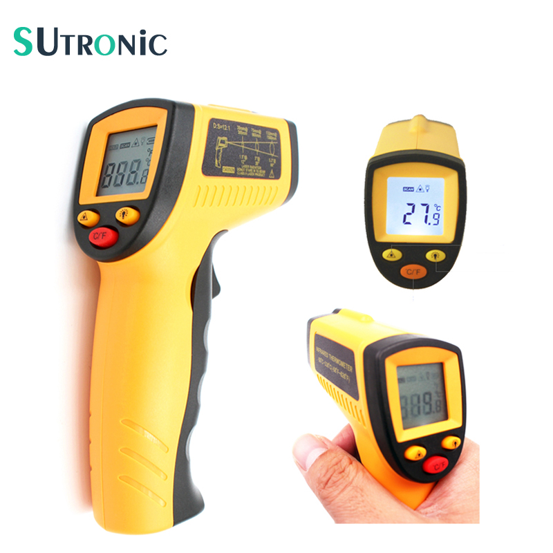 WH320 Digital Laser LCD Display Non-Contact IR Infrared Thermometer -50 to 330 Degree Auto Temperature Meter Sensor Gun Handheld