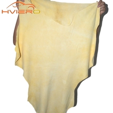 1pcs Auto Care  Natural Drying Chamois (60x40cm approx free shape ) Cleaning Genuine Leather Cloth