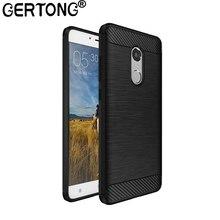 GerTong Silicone Carbon Fiber Case For font b Xiaomi b font font b Redmi b font