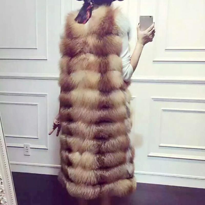 D'hiver Véritable Color 1 Femmes Inverno De Russe Sans Renard Feminino Long Gilet color Manteaux Colete Fourrure Gilets Manches 2016 Vestes Naturelle 2 vZI787Uq