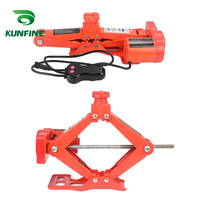 KUNFINE Portable 12V Car Jack 3Ton Electric Jack Auto Lift Scissor Jack Lifting Machinisms Lift Jack Muti Function