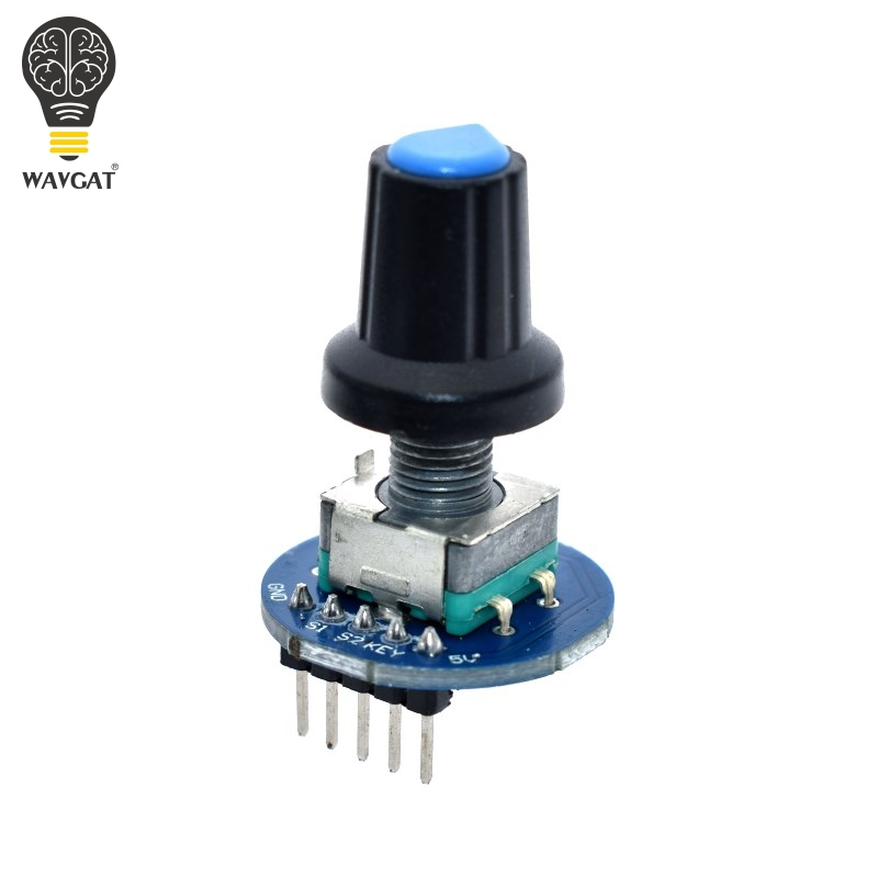WAVGAT Rotary Encoder Module For Arduino Brick Sensor Development Round Audio Rotating Potentiometer Knob Cap EC11