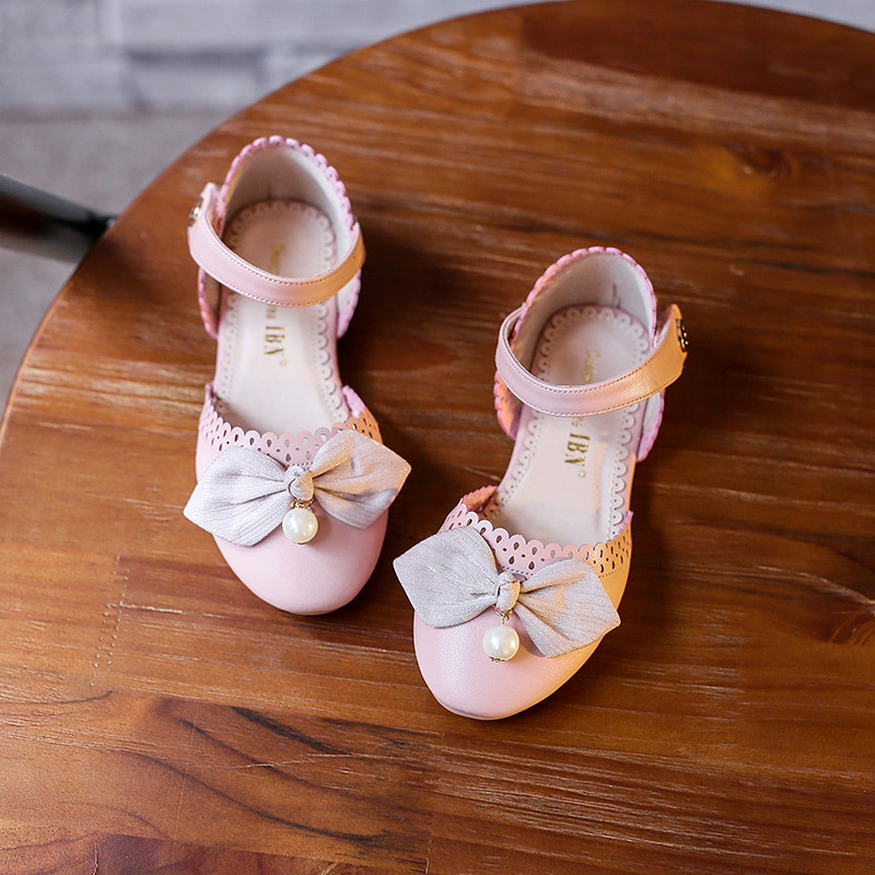 Girls shoes spring flat bow cute single shoes high quality childrens casual shoes princess shoes summer causal sandals