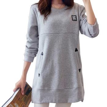 e5cb93543 Maternidad camisas suelto ropa de enfermería Tops para embarazada Camiseta  de lactancia con bolsillos embarazo ropa B0319