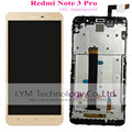 Negro/blanco/oro lcd + tp + marco para xiaomi redmi note3 pro note 3 pro/snapdragon 650 display lcd + touch pantalla