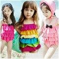 Мода милые девушки один кусок купальники ребенок цельный купальник Купальный Костюм дети дети девочек, пляжная одежда