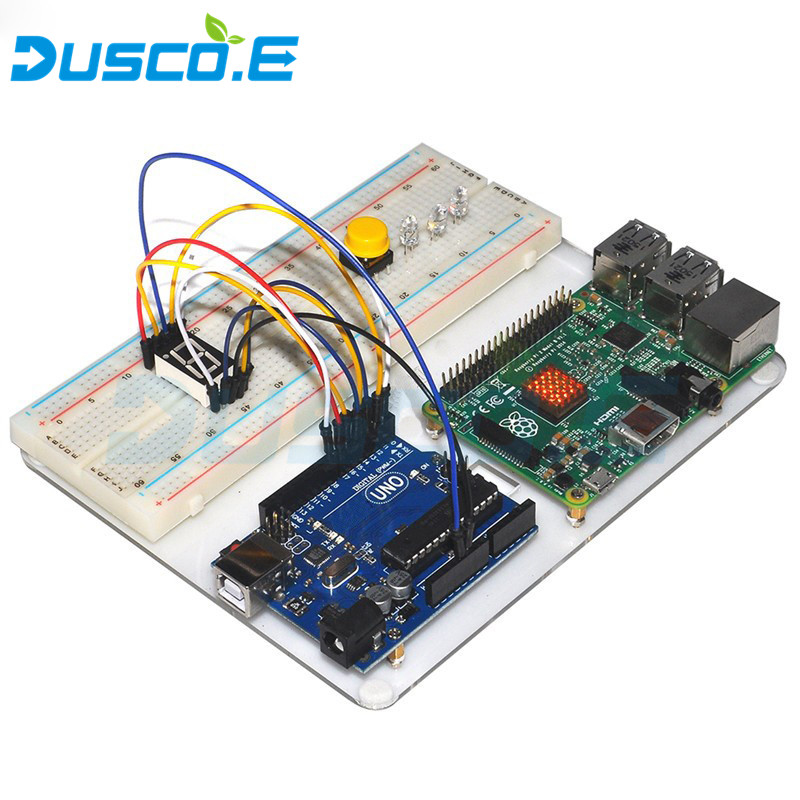New Acrylic Base Plate For Raspberry Pi 3 Model B Board / Arduino Starter Kit Basic Learning Suite Uno R3 LCD 1602 Jumper Wire