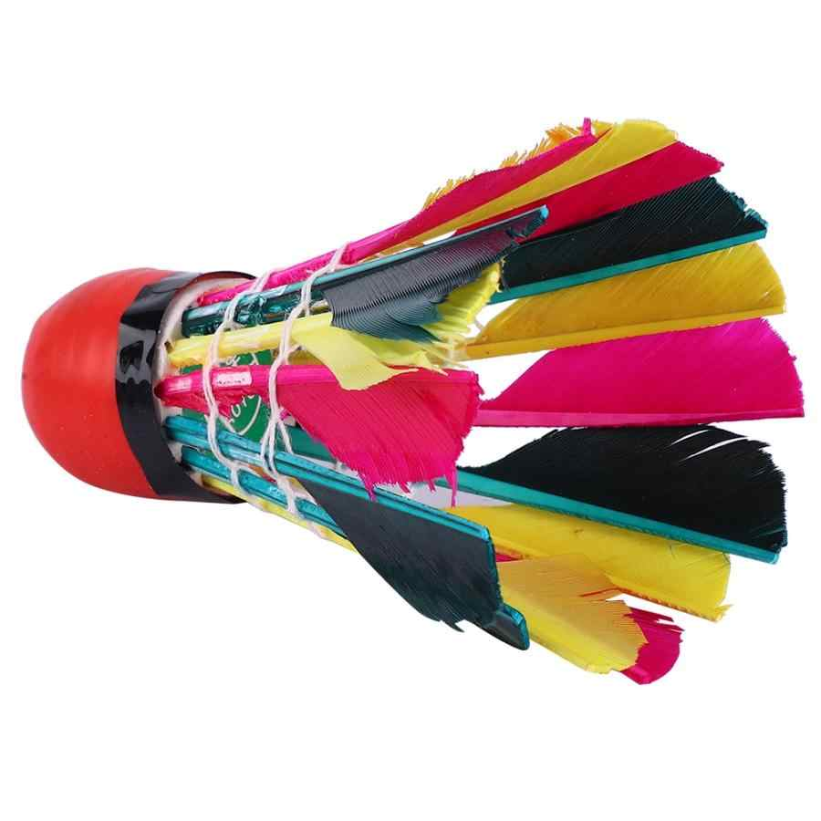 12 Pcs Goose Feather Badminton Shuttlecocks Badminton Shuttlecock Birdies Balls Colorful Badminton Accessories
