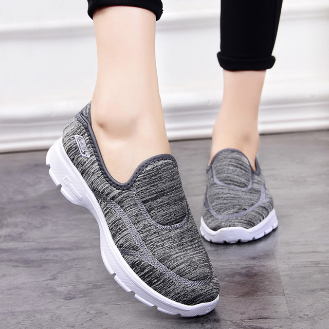 Women's Breathable Flat Sole Sneakers for Sports and strolling