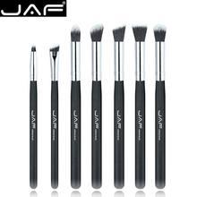 Perakende JAF 7 piece makyaj göz fırça seti fırçalar makyaj Shader karıştırma fırçası göz farı makyaj aksesuarı JE07SSY