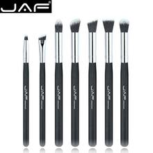Retail JAF 7 piece Makeup Eye Brushes Set Brushes Make Up Shader Blending Brush for Eye Shadow Makeup Accessory JE07SSY