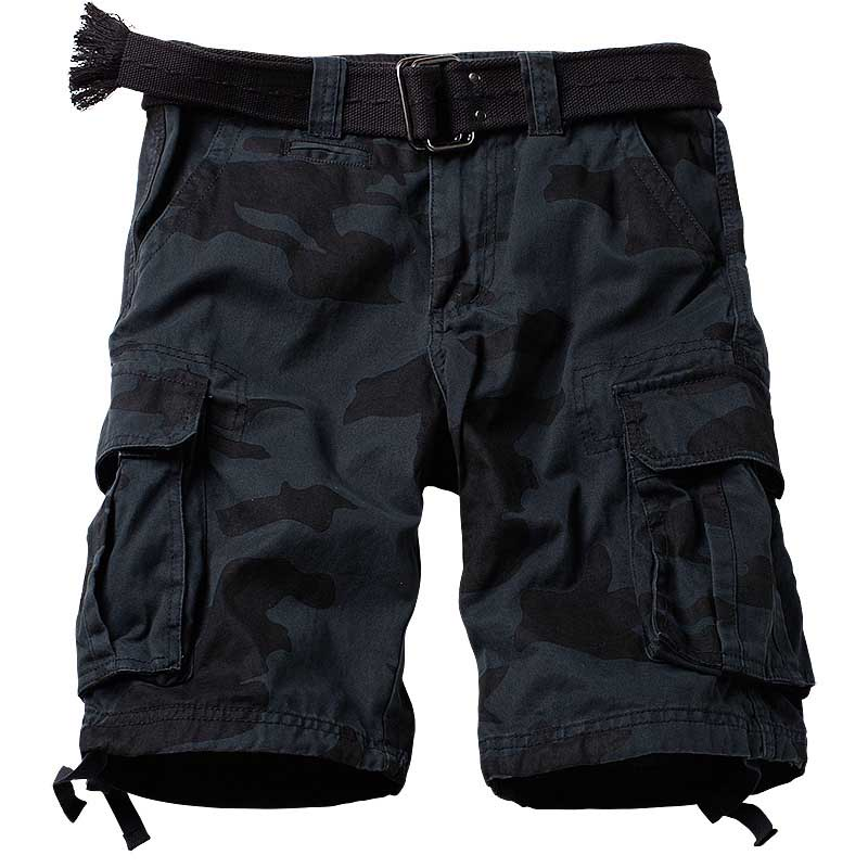 Battle Field Camouflage Cargo Shorts Men Casual Cotton Loose Baggy Beach Shorts  Military Army Style Cotton Shorts Man Clothes