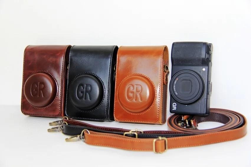 Protective PU leather Camera Bag Case For Ricoh GR grii GR2 Camera Case