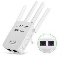 750 1200Mbps WIFI Repeater Router Access Point Dual Band Wireless Wi Fi Repeater Extender With 4