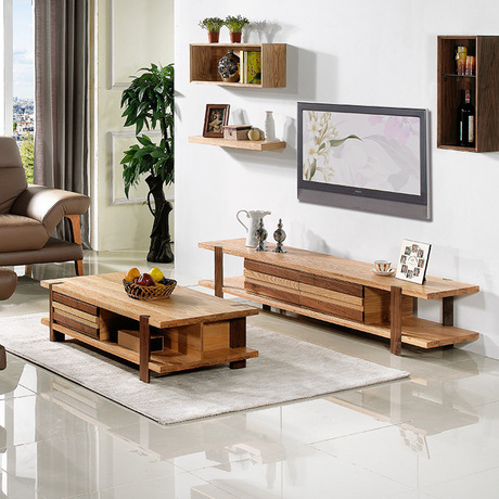 Living Room Set Furniture Home Solid Wood Coffee Tables Tv Stands Sets Hot 2017 Good Price New In From