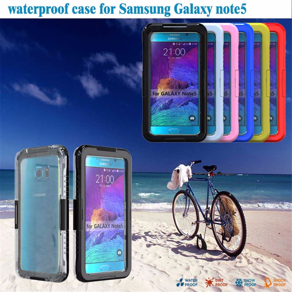KINGMAS Waterproof Swimming Diving Case For Samsung Galaxy Note 5 shell Water Proof Dive Phone