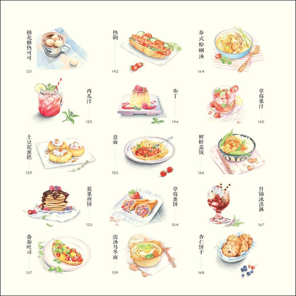 Cina Lukisan Buku buku makanan lezat dicat untuk Orang Dewasa - Buku-buku - Foto 5