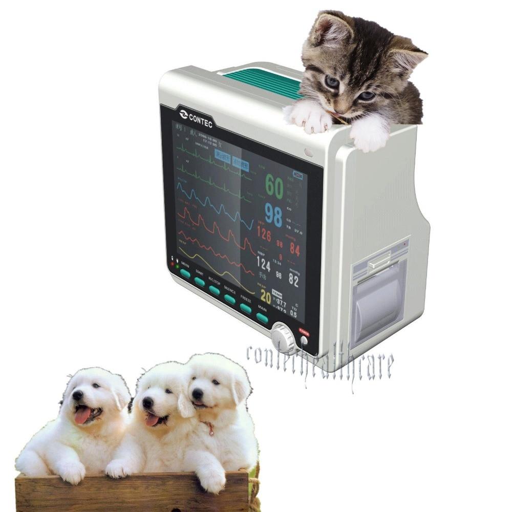 SPO2, ECG, NIBP, PR, RESP, TEMP, CONTEC가 포함 된 VETPETAnimail ICU 환자 모니터