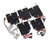 5 pcs DC 12 V 2A Solenoid Elektrische Controle Kast Lade Lockers Lock Pudsh push Ontwerp met signaal feedback en auto opening