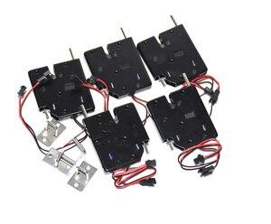 Image 1 - 5 pcs dc 12 v 2a 솔레노이드 전기 제어 캐비닛 서랍 로커 잠금 신호 피드백 및 자동 개방 pudsh push 디자인