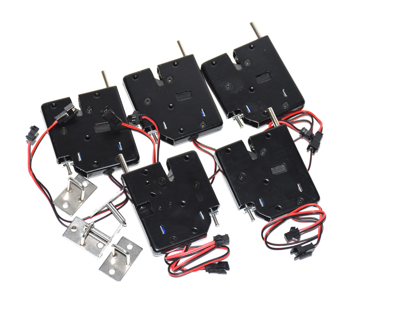 5pcs DC 12V 2A Solenoid  Electric Control Cabinet Drawer Lockers Lock Pudsh-push Design With Signal Feedback And Auto Opening