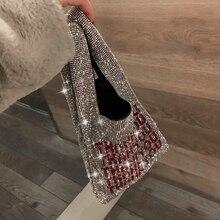 luxury handbag 2019 new design fashion Shiny diamond letters tote bag Girls Even