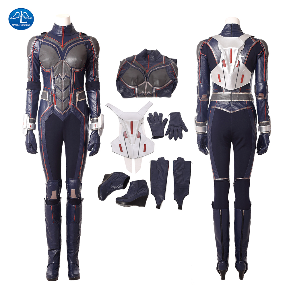 2018 New Women Ant-Man And The Wasp Cosplay Costume Halloween Carnival Wasp Costume For Women Jumpsuit Custom Made
