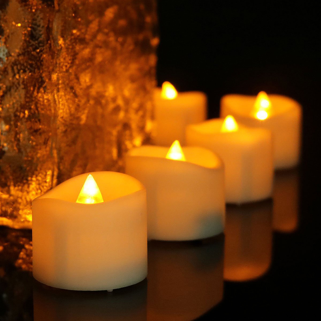 Baoblaze Battery Powered Flameless LED Candle Flickering Tea Light for Valentine Wedding Party Home Decor