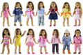 Новый 6 Компл. Куклы Различных Стиля для 'дюймов American Girl Куклы Принцесса Костюмы Платье Экипировка