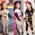 Autumn Children Clothing Sets Boys Girls Warm Long Sleeve Sweaters+Pants Leggings Fashion Kids Clothes Sports Suit Set for Girls