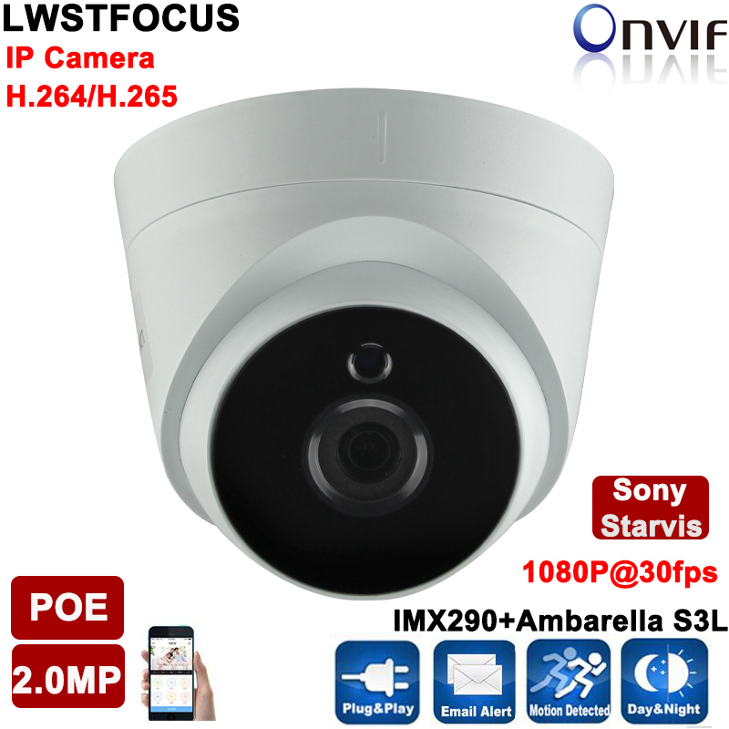 ФОТО Sony IMX290+ Ambarella S3L 2MP IP Camera 1080P Full HD camera IP camera dome p2p Night Vision CCTV Camera IR-CUT,ONVIF 2.4