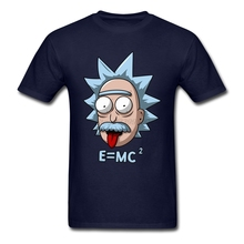 XXXL Funny Rick and Morty T Shirt Premium Custom Short Sleeve Love Physics Science E MC2 T-shirts Einstein Shirt Designer