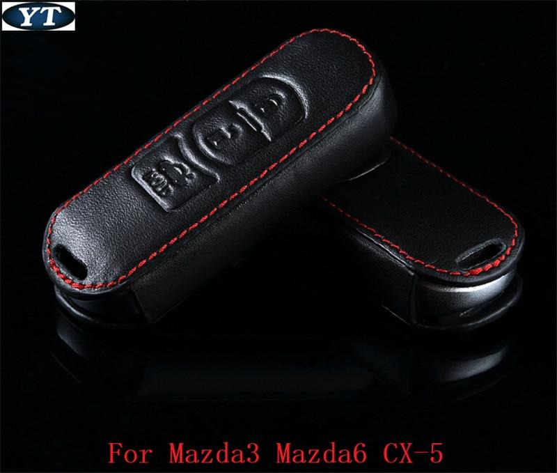 Genual Leder Schlüsseltasche, Autoschlüsselhalter, Schlüsseletui für Mazda 3 Mazda 6, CX-5, Autozubehör, Auto-Styling
