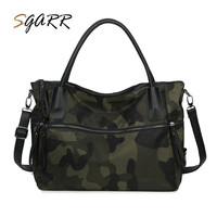 Oxford Casual Women Tote Handbag Large Capacity Female Travel Shoulder Bags Military Camouflage New Style Cheap
