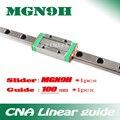 9 мм линейная направляющая MGN9 L = 100 мм линейный рельсовый путь + MGN9H длинная линейная перевозка для оси CNC X Y Z Бесплатная доставка
